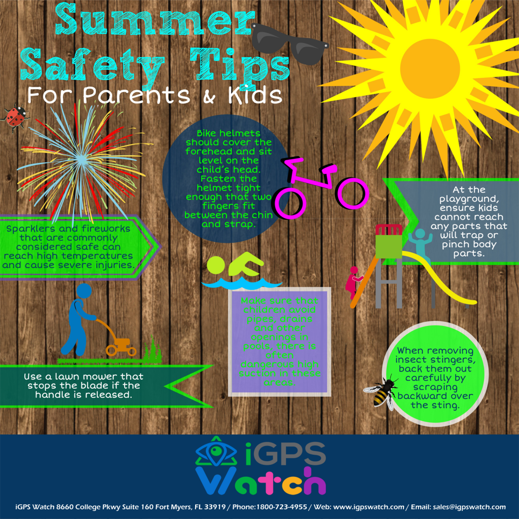 Summer safety tips infograph for parents and children