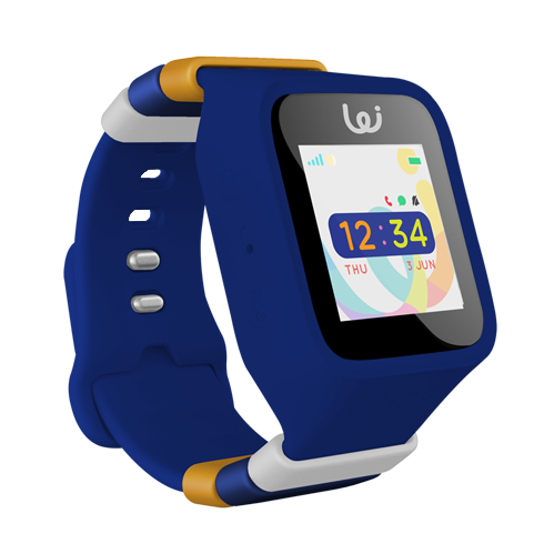 Midnight Blue child protection watch with GPS services