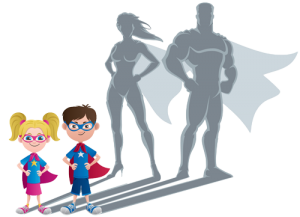 Children become super heros with high self-esteem