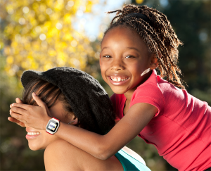 Mother and Daughter Piggy Back Ride GPS Tracking Watch