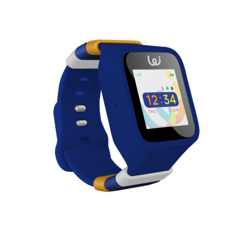 Midnight blue GPS smartwatch